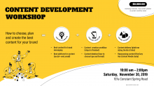 Content Development Workshop Flyer