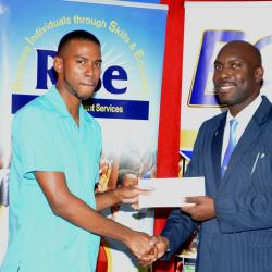 Top teacher his receiving recognition work his hard work and dedication