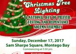Annual Christmas Tree Lighting and National Day of Prayer, Fasting and Repentance Solemn Assembly