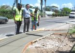 Mayor Davis Observes Sidewalk Works
